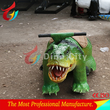 Outdoor coin operate simulation dinosaur rides