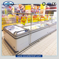 DIB181ECH1 Glass Door Mini Refrigerated Fridge Showcase for Supermarket Display