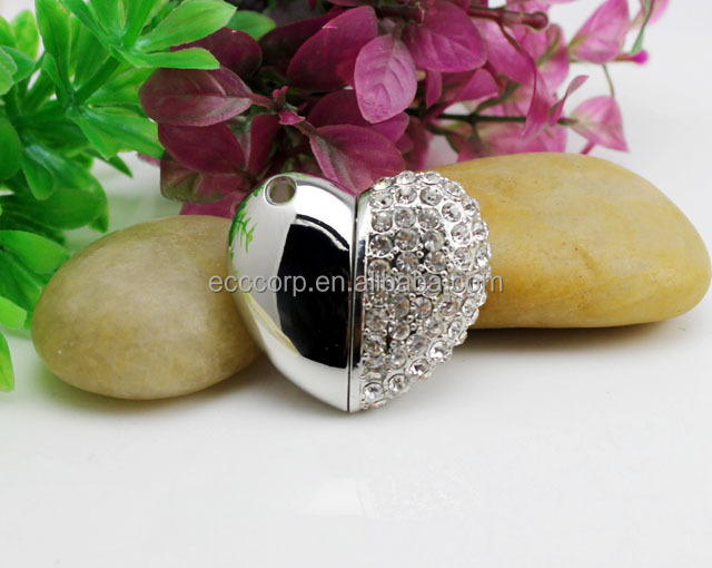 100% full capacity jewelry diamond usb flash drive(without upgrade)
