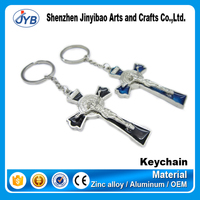 Carabiner Keychain Type and Zinc alloy Material metal cross keychain souvenir gift