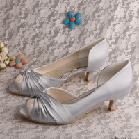 (20 Colors) Super Shoes Bride Wedding Low Heeled