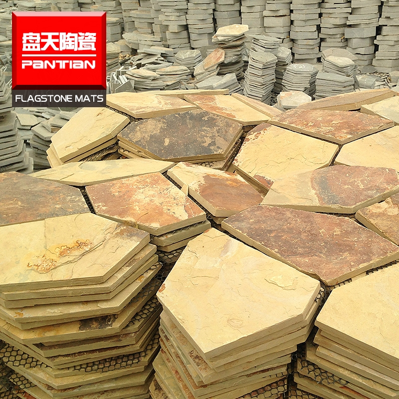 irregular flagstone floor tile exterior wall stone slate tiles