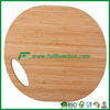 Big round bamboo wood cutting board with hole handle