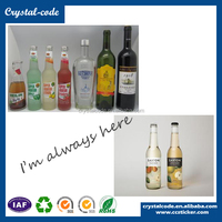 Waterproof printing transparent label, glossy laminated clear roll plastic bottle label
