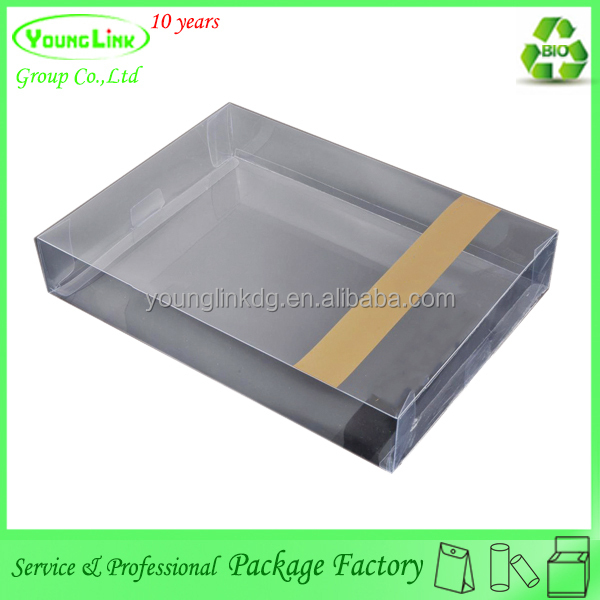 Printing adjustable Clear business card storage box & plastic business card box