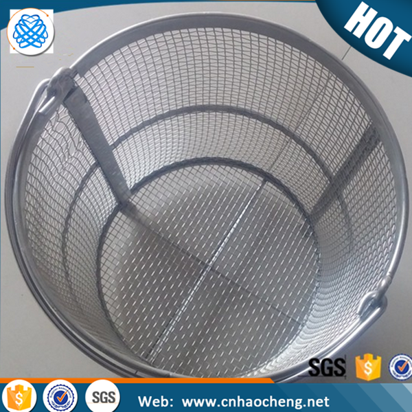 High quality round square 304 stainless steel metal wire mesh perforated filter basket