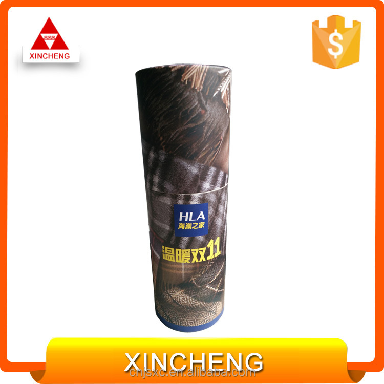Display customized printed cylinder shawl paper packaging box