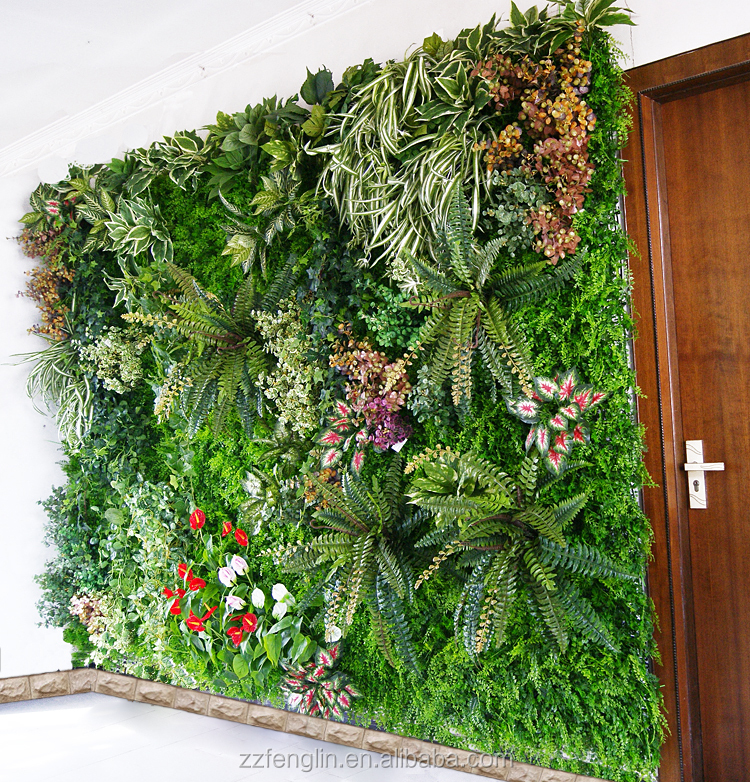 Professional Artificial Green Plant Wall Factory Supplier Customized Indoor Artificial Living