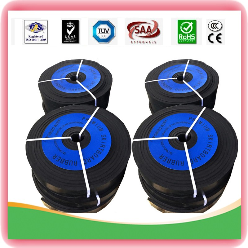 Industry gasket seal SBR rubber 1.5mm thickness hardness 65+/-5 shoreA black skirt rubber sheet trip