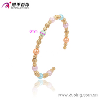 Latest Arrival 18K Gold Color Cute Jewellry Bangle with Colorful Beads
