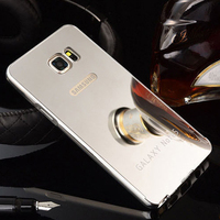 New Luxury Metal Bumper Case Shockproof Plating Mirror Back Cover for Samsung Galaxy Note 5 N9200 Metal Case Free Shipping