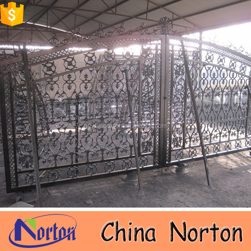 single wrought iron gate grill designs NTIRG-009S