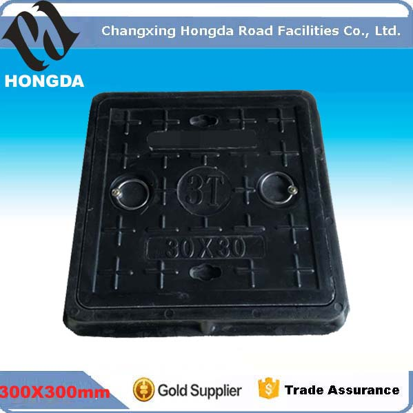 300X300mm Square composite Manhole Cover for cable trunch with your Logo