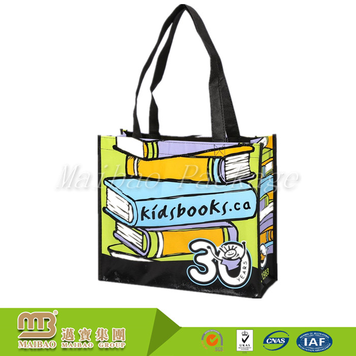 Custom Fashion Shopper Tote Reusable Recycled Eco Fabric Pet / Rpet Nonwoven Shopping Bag