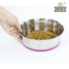 No Spill Stainless Steel Pet Bowl With Rubber Base