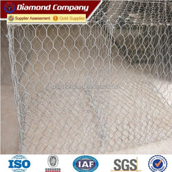 anping galvanized gabion wire mesh factory / gabion basket price