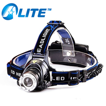 zoom adjustable focus light rechargeable 800 lumens T6 led fishing headlamp