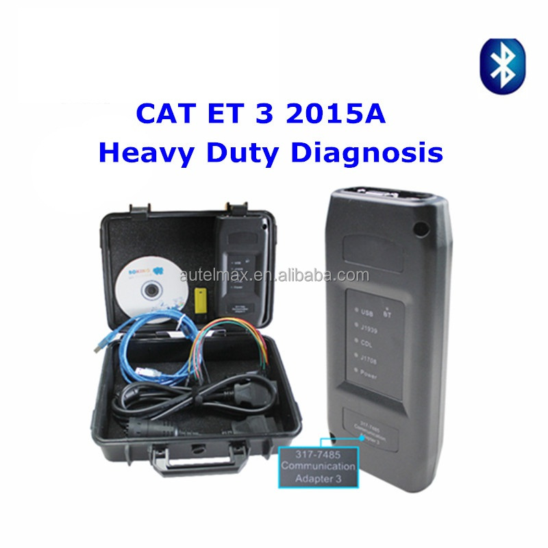 Latest 2015A CAT ET 3 III Bluetooth Communication CAT Adapter 3 P/N 317-7485 CAT3 Professional Heavy Duty Truck Diagnostic Tool