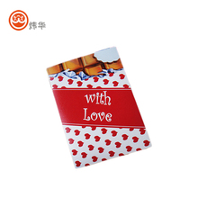 Luxury valentines day gifts heart shape handmade greeting card