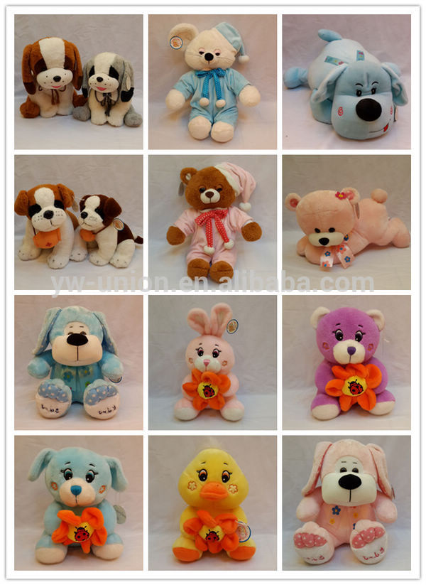 Customized plush stuffed plants toys / kids cuddly teddy plush