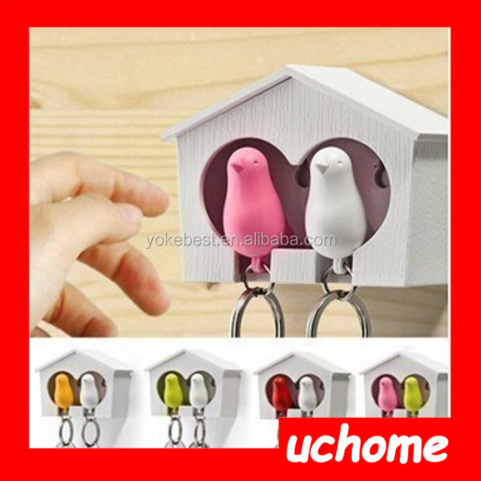 UCHOME Lover whistle key ring holder for wedding gifts souvenirs keychain