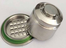 3 Version Reusable/Refillable Nespresso Compatible Coffee Capsules Stainless Steel