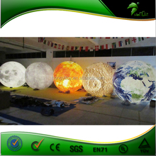 Hanging Decorations Inflatable Planet Balloon , Advertising Helium Earth Shape Balloon