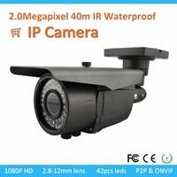 Network Bullet Wifi Shenzhen Ip Camera Manufacturers 2 Megapixel 1080p HD CCTV P2P