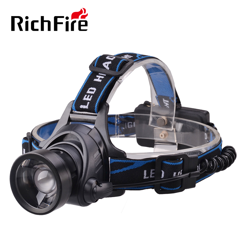 3-Mode Telescopic lens rechargeable White light <strong>led</strong> head torch