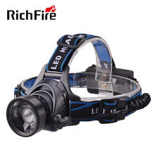3-Mode Telescopic lens rechargeable White light led head torch