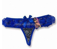 2014 Hot transparent thong women
