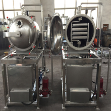 industrial vacuum food pilot scale round cabinet freeze dryer for food factory