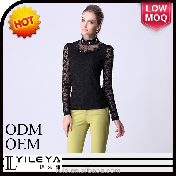 stand collar design blouse for ladies fancy blouse