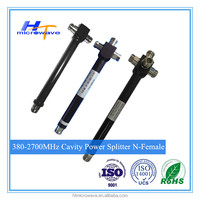 380-2700MHz wide frequency 2/3/4 way cavity power splitter / divider N/F n female connector