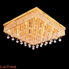 Energy saving indoor drop crystal gold ceiling lighting for kitchen 58113