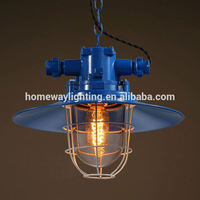 Top seller in Europe metal copper shade industrial pendant lamp maroon ROHS approval