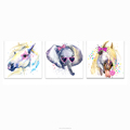 Animal Painting Canvas Prints Elephant and Pony Painting Digital Printing Drop Shipping Wholesale Canvas Painting