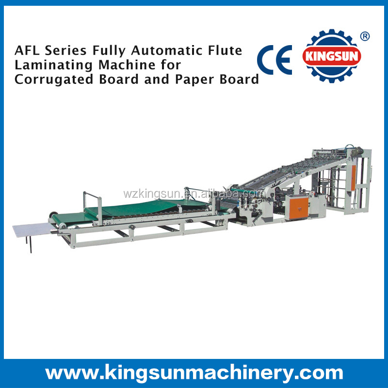 AFL Series Corrugated Cardboard Paper Automatic Flute Laminating Machine