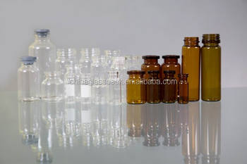 sterile pharmacutical injection tubular empty clear amber 2ml 3ml 4ml 5ml 7ml 10ml 15ml 20ml 25ml 30ml glass vial