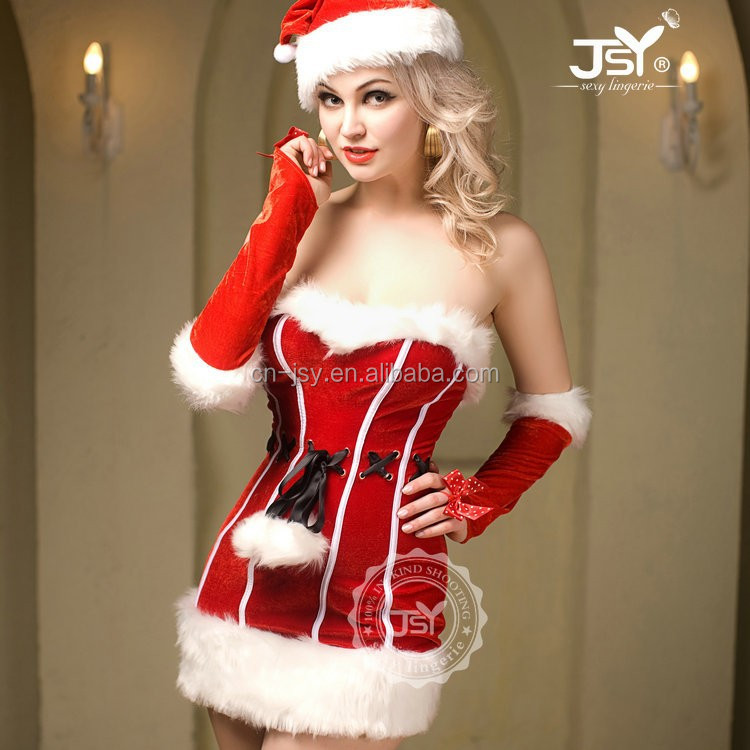 New Style Santa Teddy Lingerie,Adult Shop Christmas Eve Costume,Fat Women Sexy Christmas Costume