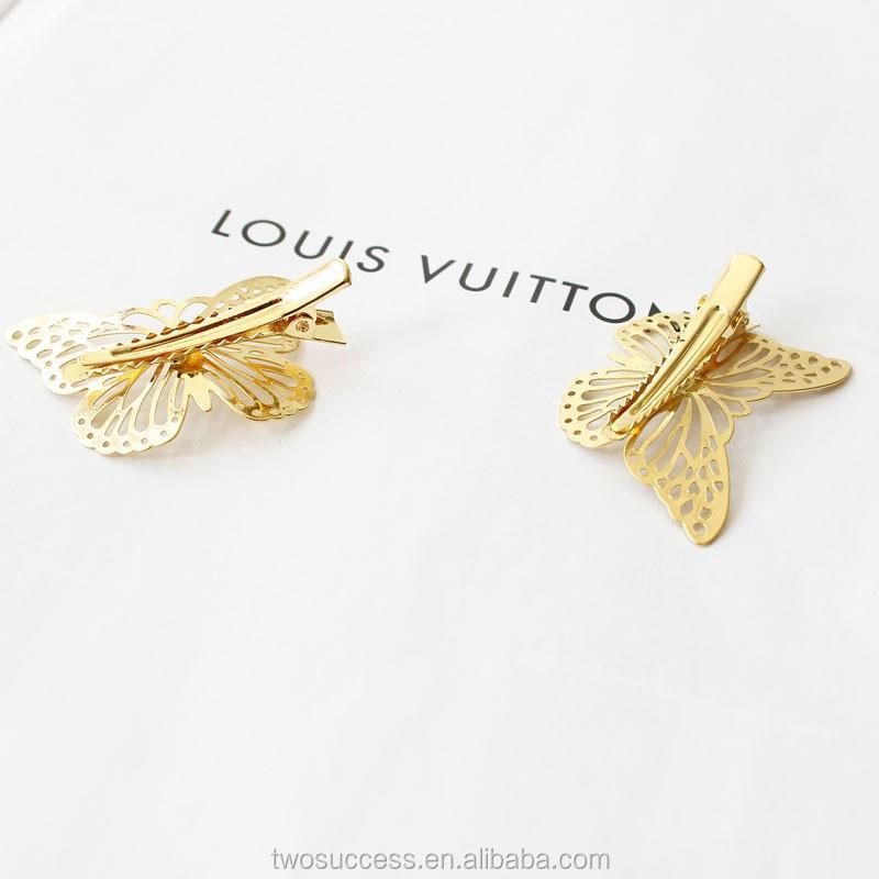 Korean style for girls hair accessory lovely butterfly hair clips .jpg