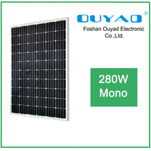 China Manufacturer low price mono solar panels 280watt