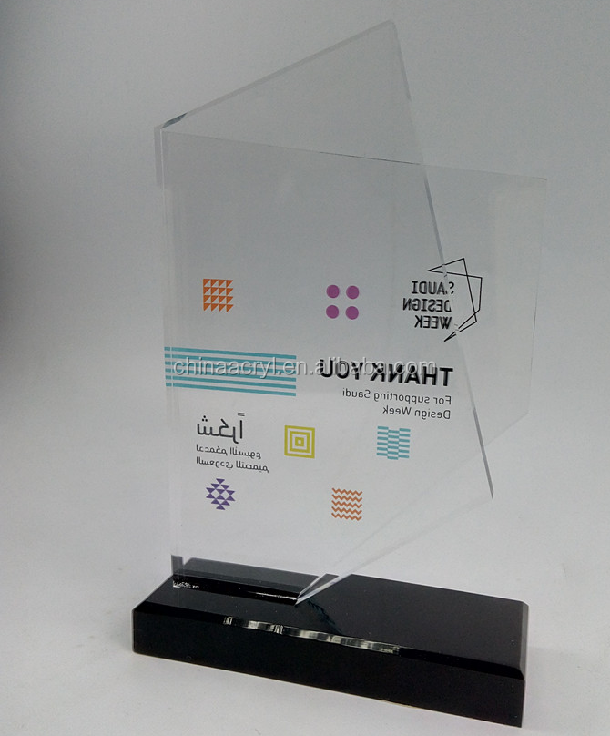Wholesale clear custom models acrylic award trophy