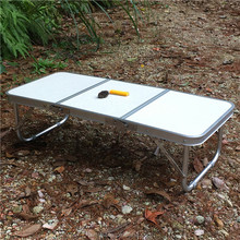 portable small aluminum /MDF folding picnic and bbq table