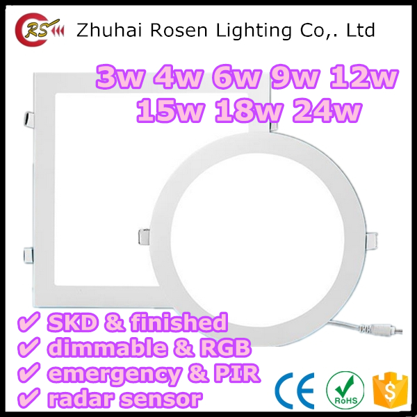 list of manufacturing company 105*90mm 3w 4w 6w 9w 12w 15w 18w 24w led downlight panel light
