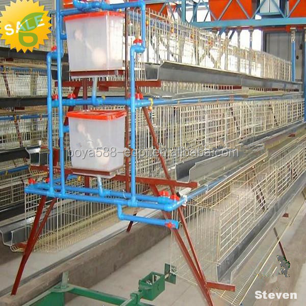 Galvanized welded wire chicken battery cages for egg laying hens