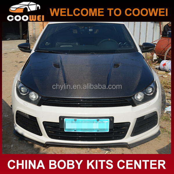 Carbon Fiber Material M3 Style Car Engine Hoods for Scirocco R