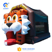 Popular cartoon tiger inflatable bouncer jumper, bouncy jumping castle for kids, inflatable bouncer for promotion