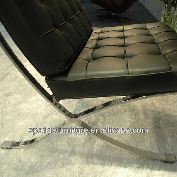 De cuero de barcelona silla trono con otomana replica muebles de la ...