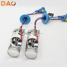 Dual projector lens all in one 35W 12V H4 Motorcycle Bi xenon Hid Kit /Mini Hid projector len H4 / H7 6000K